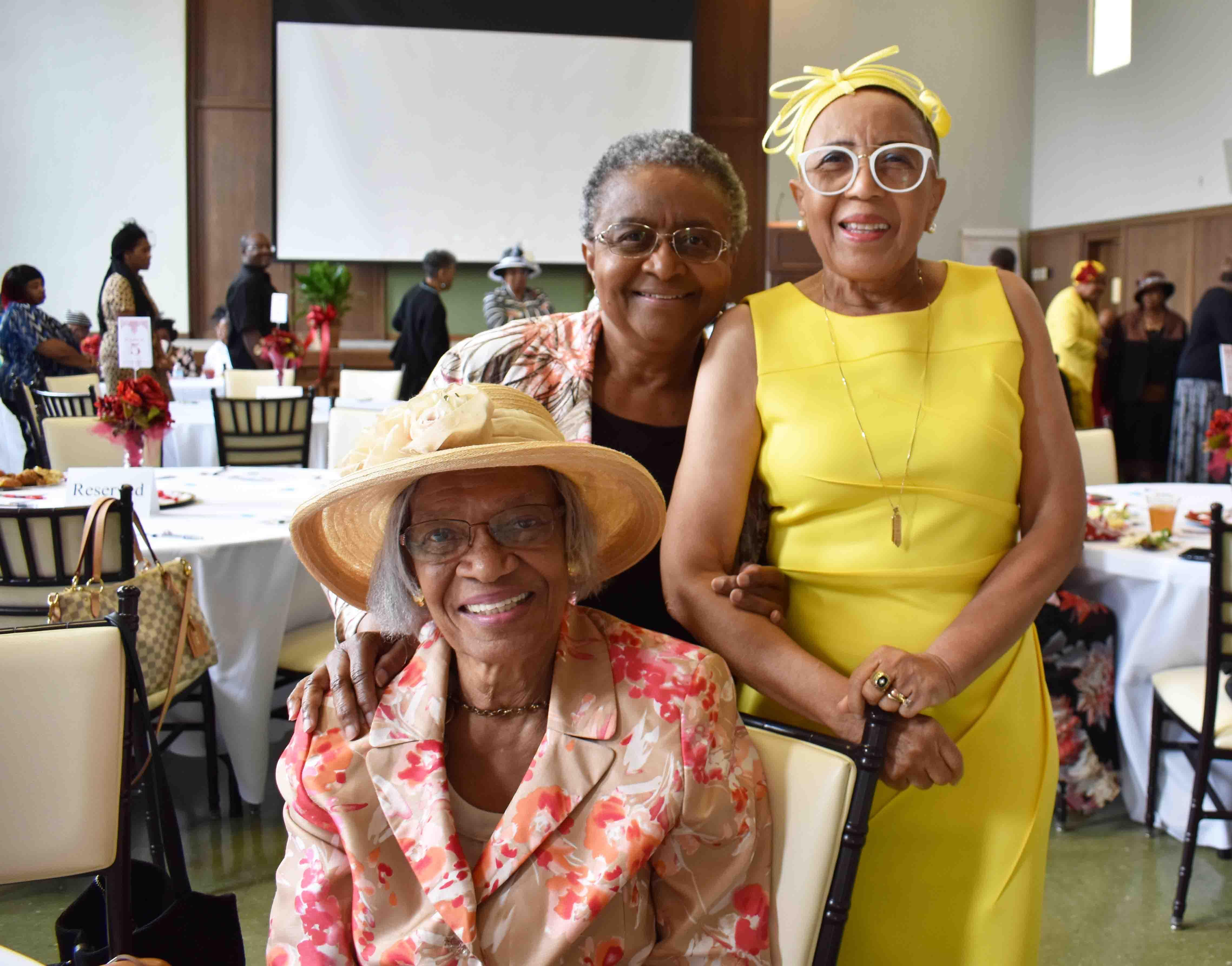 Barbara Johnson, Dr. Sybil Jordan Hampton, Mae Green