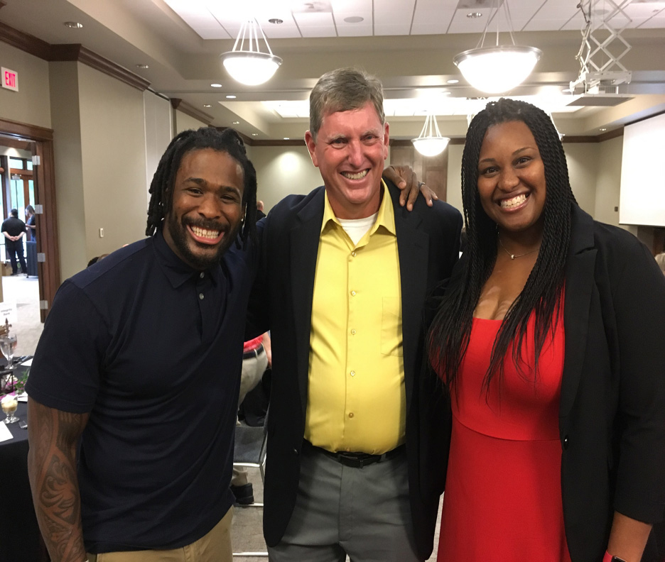 NFL great, DeAngelo Williams, Dave Goodin, Chenell Tucker