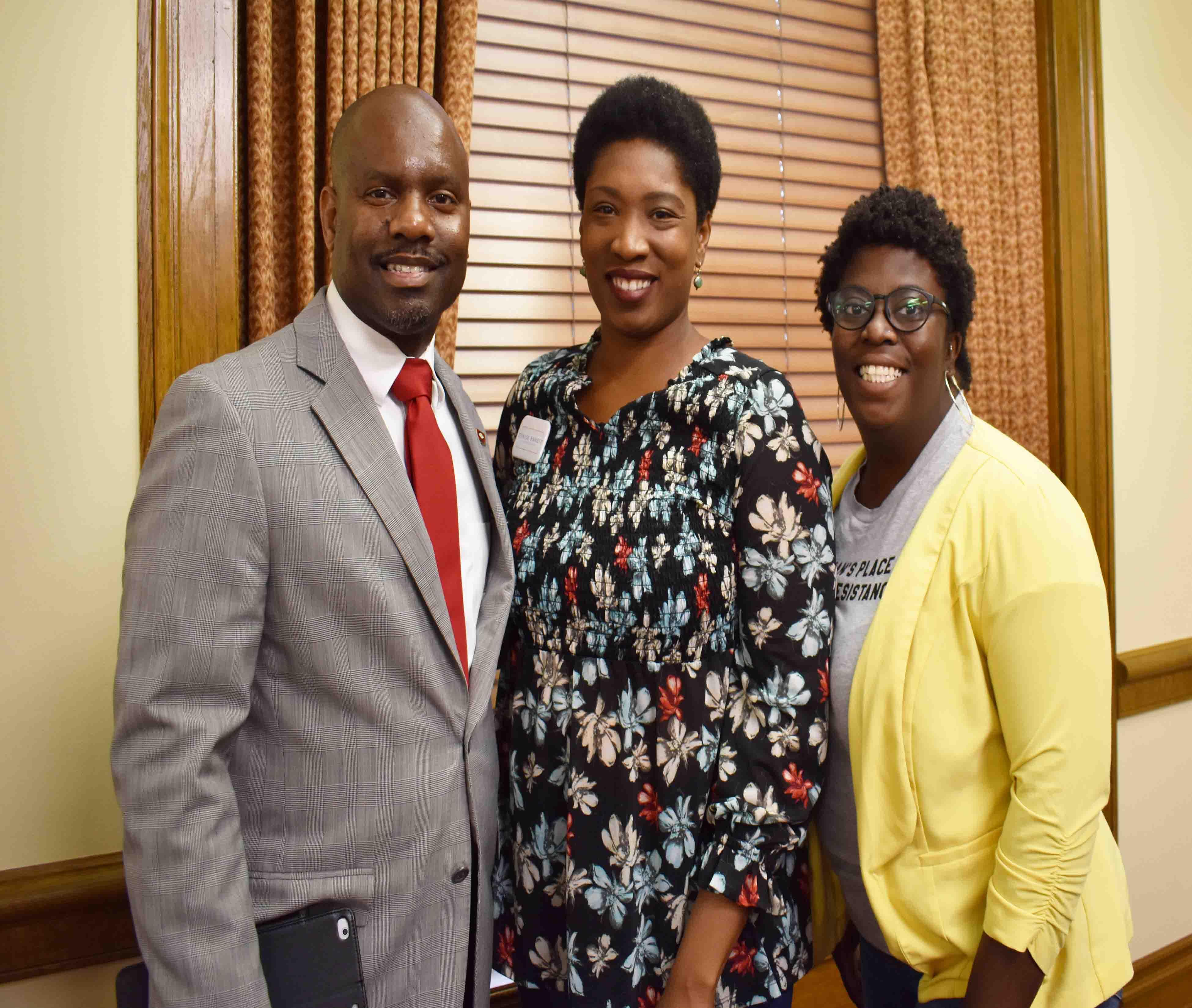 Rep. Fredrick Love (House Minority Leader), Denise Ennett, Gloria Pedro