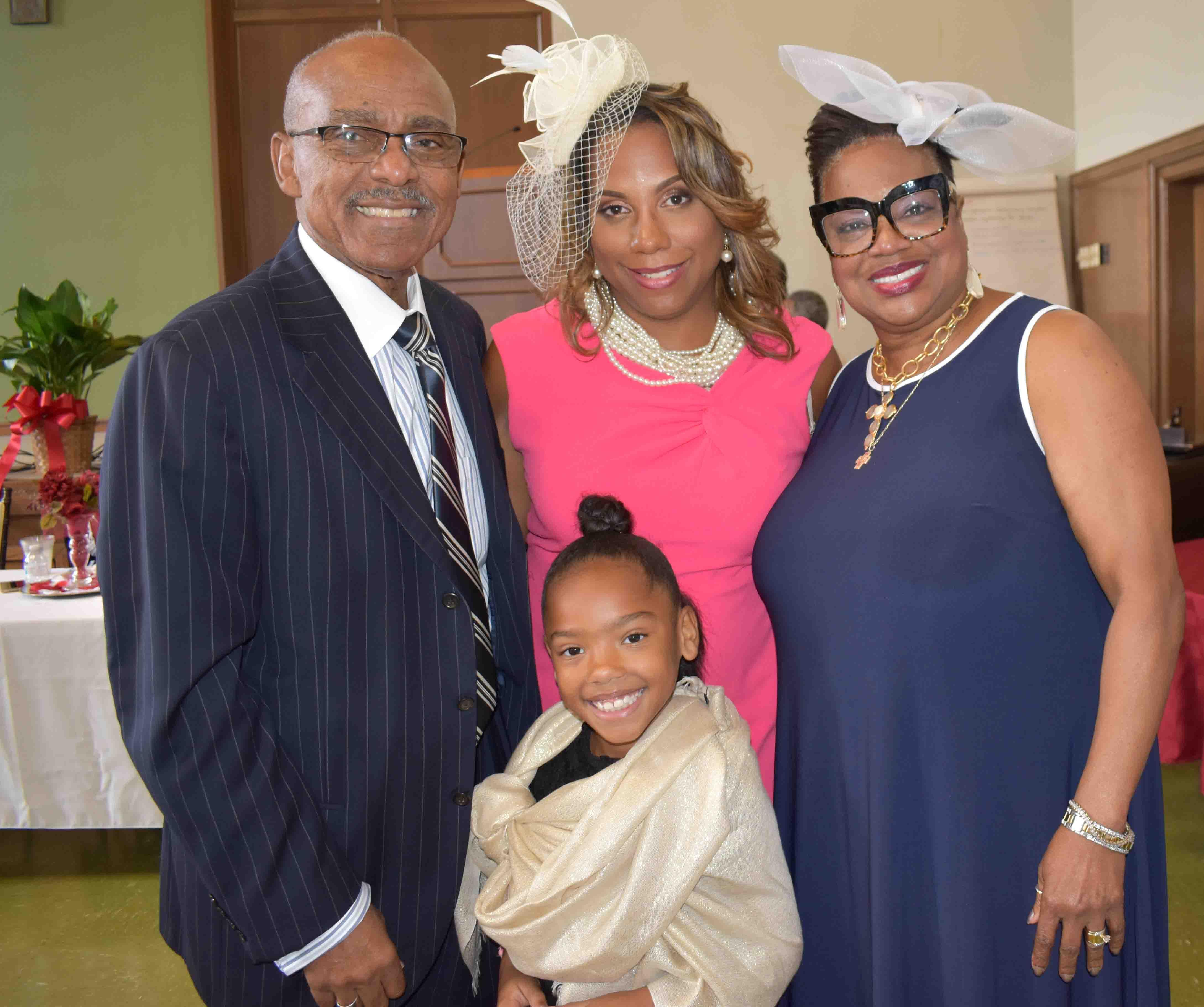 Rev. Truman Tolefree, Tiffany and Skylar O'Guinn, Rev. Bettie Tolefree