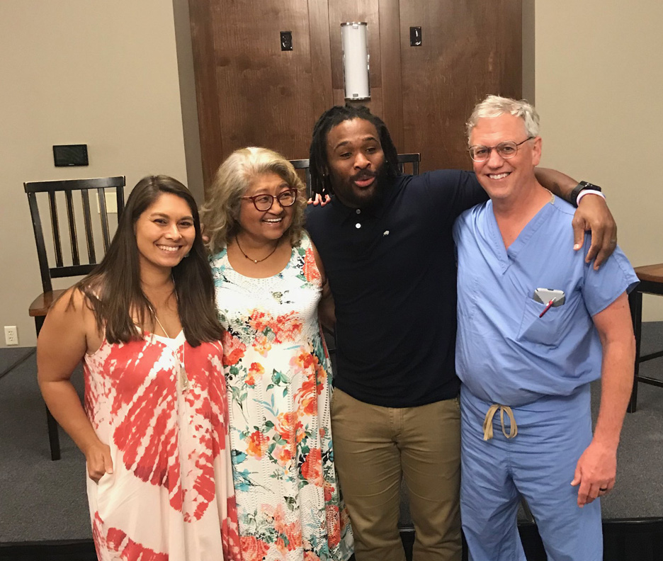 Risalyn Williams, Dallie Ricca, NFL great, DeAngelo Williams Dr. Gregory Ricca
