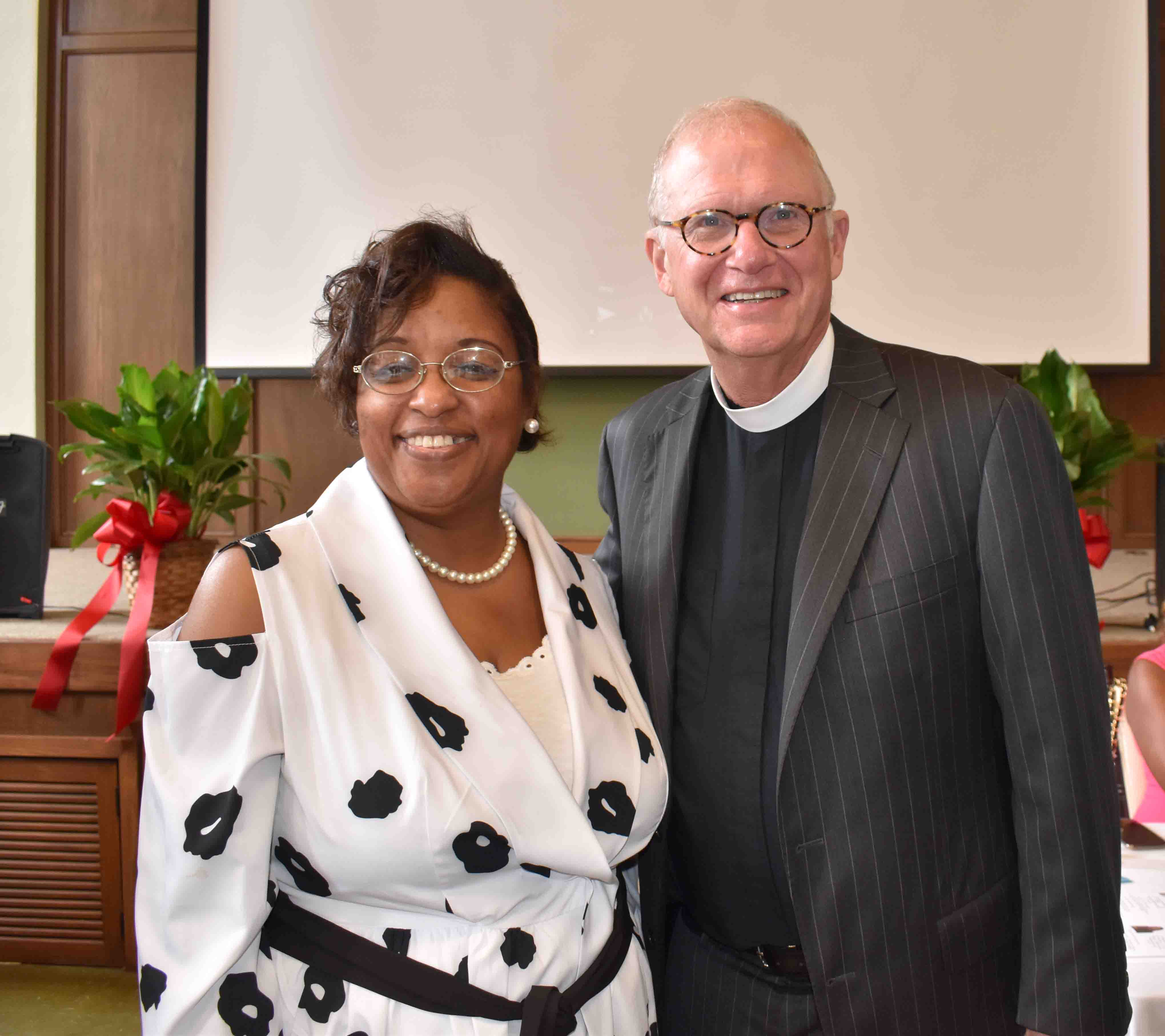 Tina Wright, The Very Rev. Dr. Christoph Heller, III