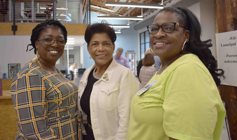 Alicia Walton, Regina Hampton, Dr. Fran Kelly