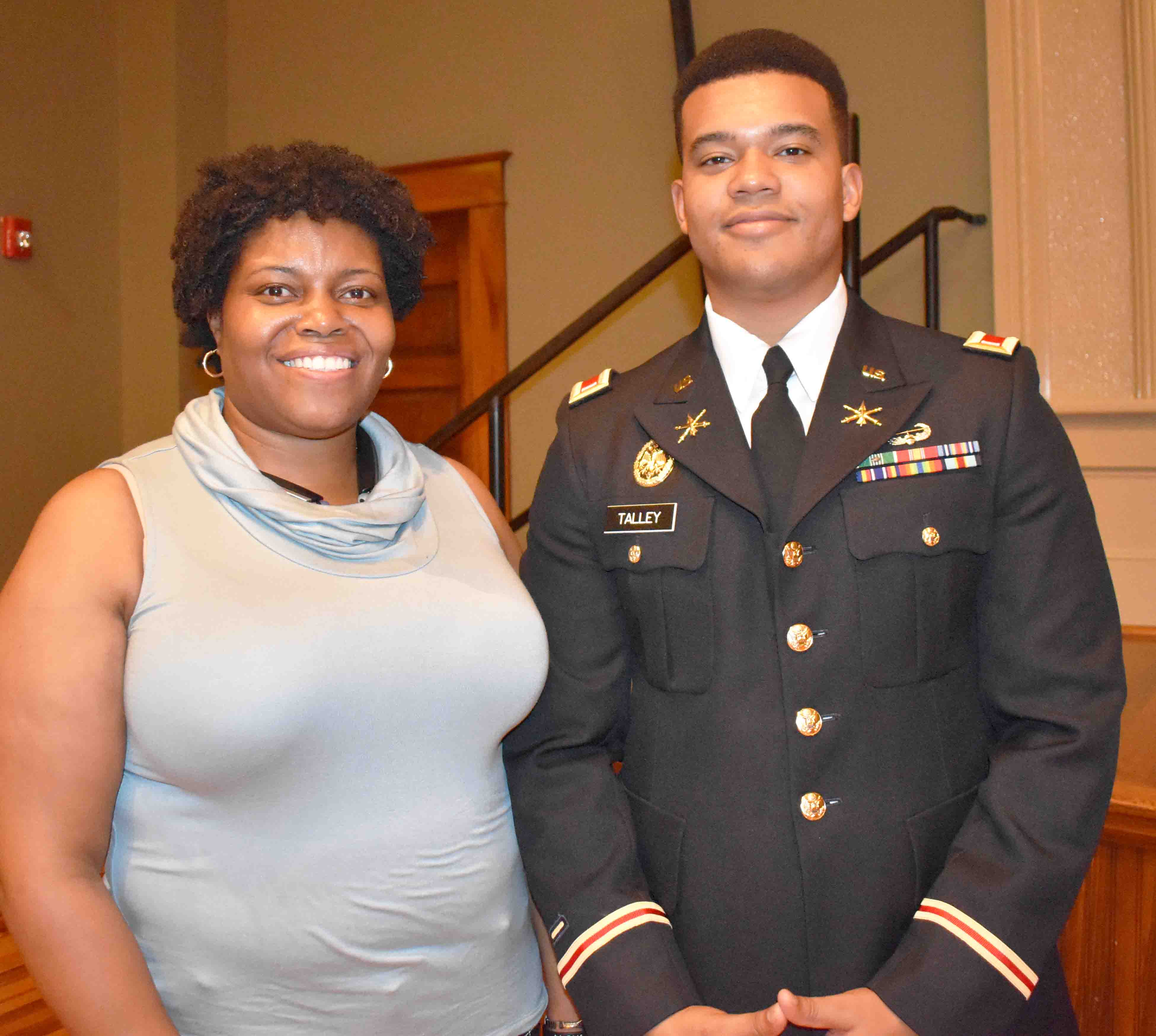 Kimberly Young, First Lieutenant Alijah Talley (Diversity Outreach Officer, West Point Military Academy)