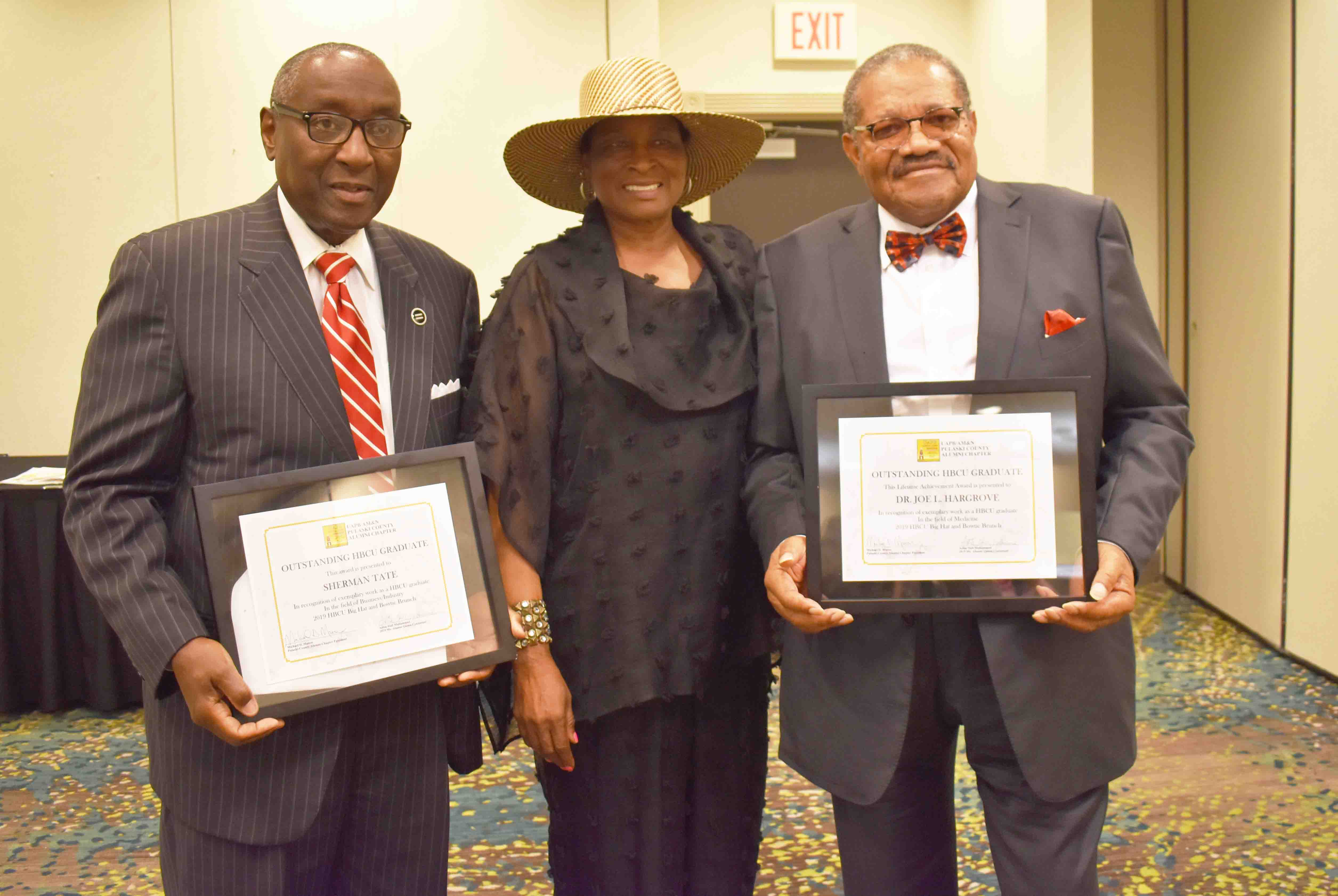 Sherman Tate, Pearl Howse, Dr. Joe Hargrove