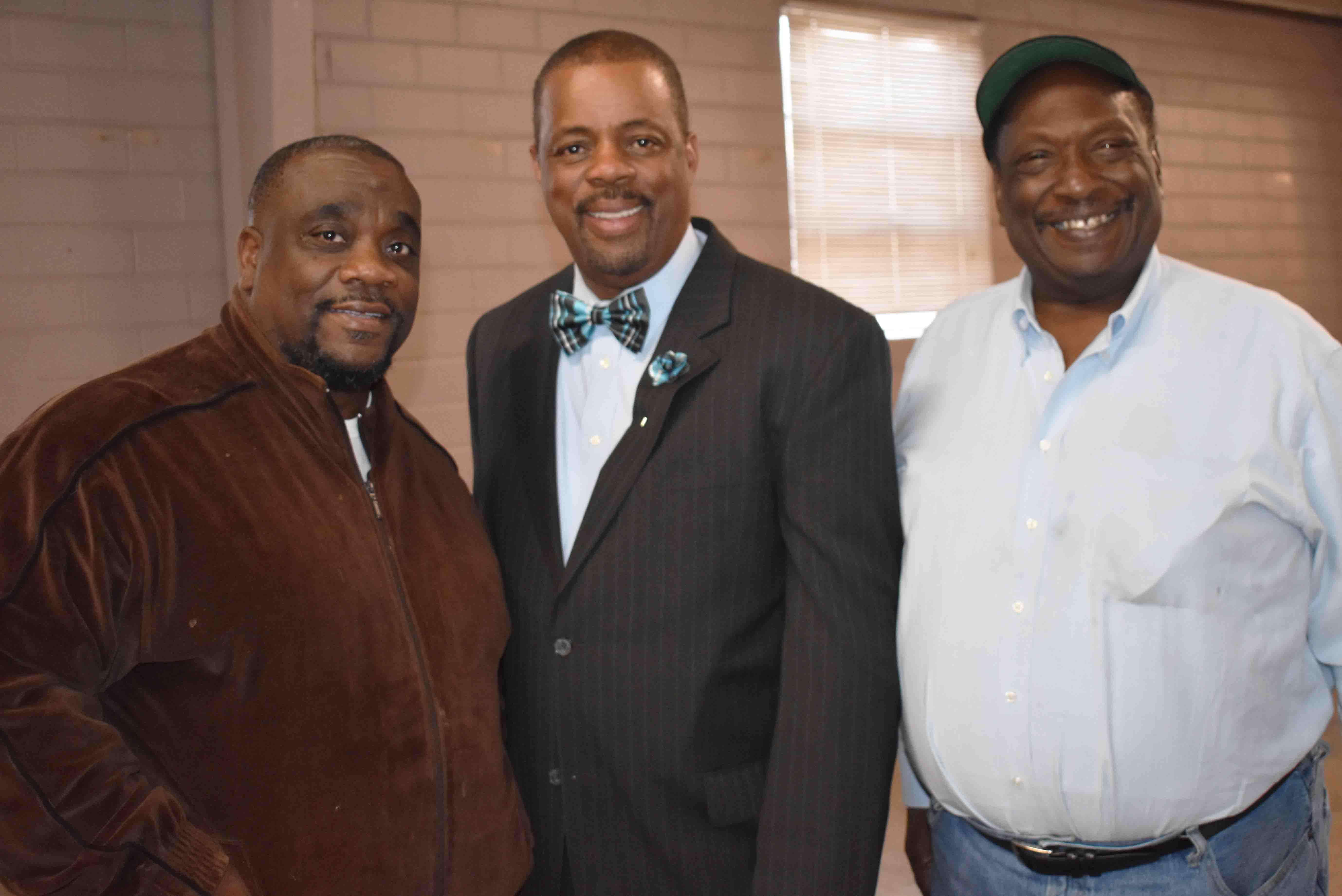 Glen Barnes,  City Councilman Ivan Whitfield, Columbus Burt