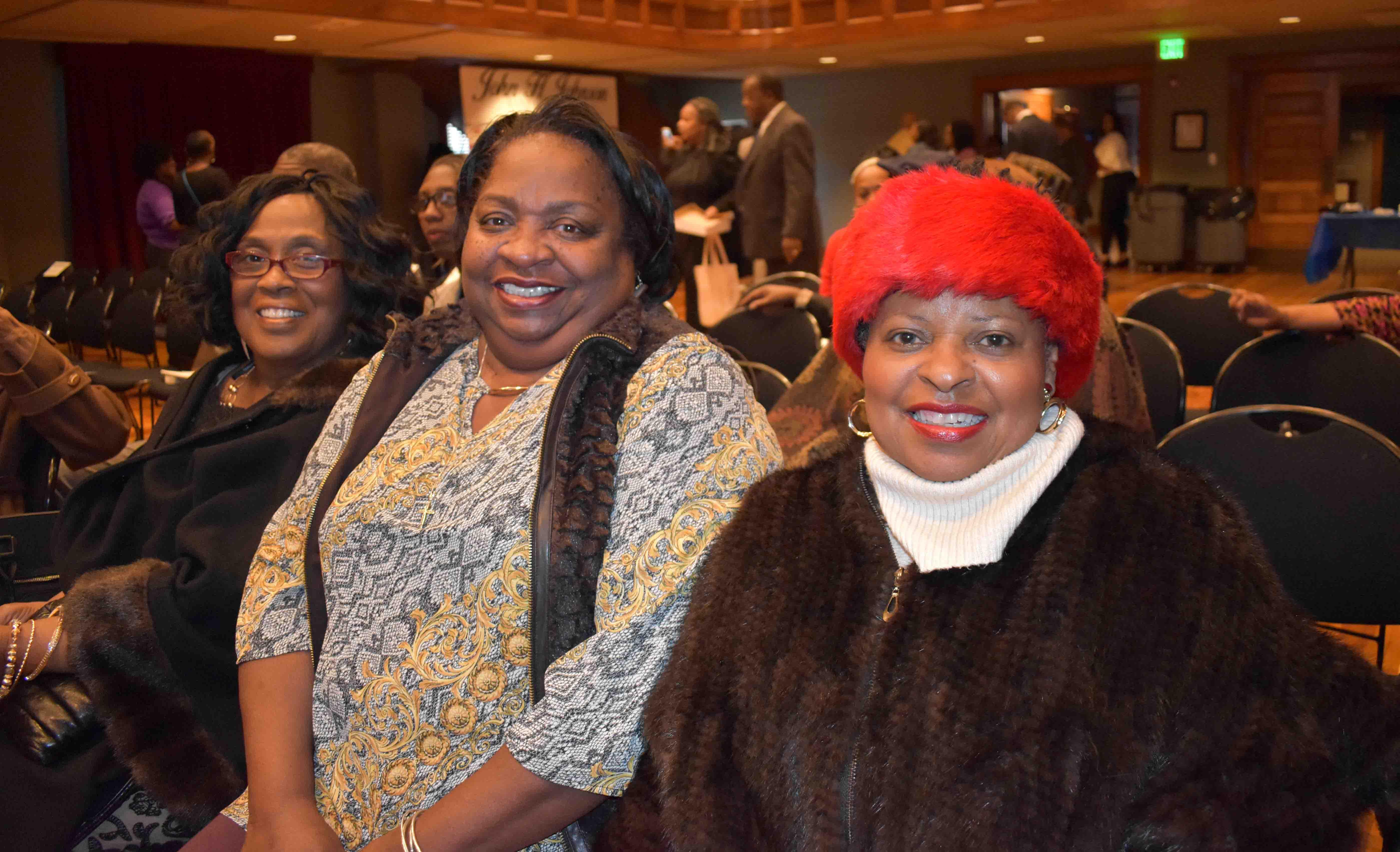 Hazel May, Carolyn Turner, Dr. Dorethea Davis